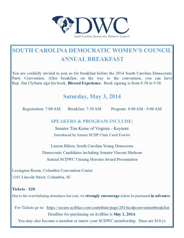 SCDWC 2014 ANNUAL BREAKFAST