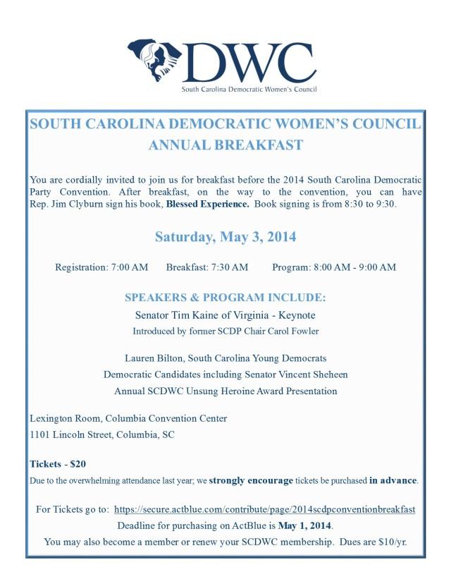 South Carolina Democratic Women's Council | Supporting ...