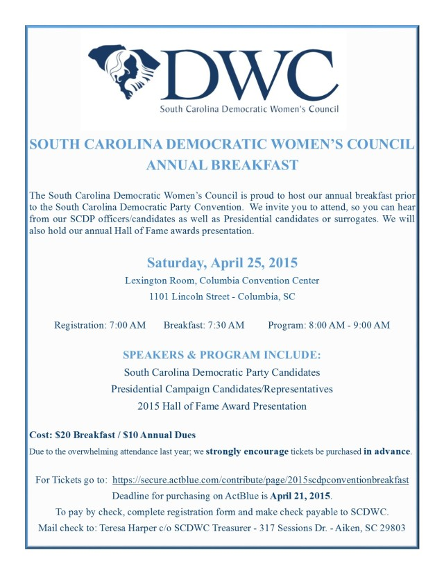 SCDWC 2015 ANNUAL BREAKFAST